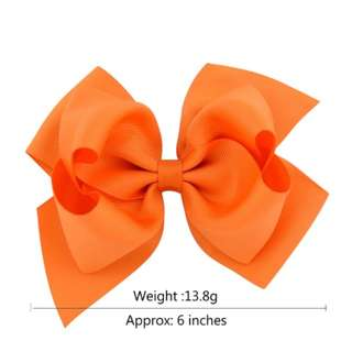 (Pre-order) 6 inches Ribbon Bow Hairclip