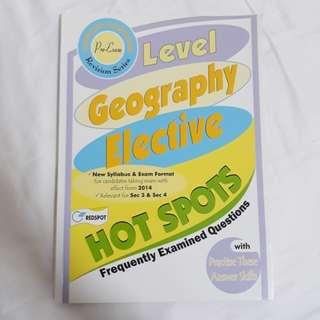 Geography elective pre examination exam revision notes