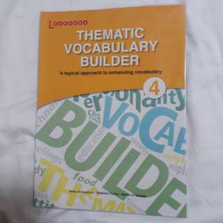 Earners thematic vocabulary builder book secondary 4 o levels / n levels
