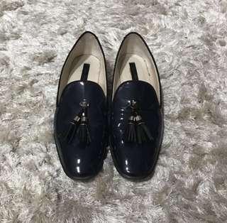 Zara Leather Tassel Loafers