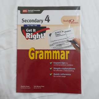 Marshall cavendish grammer book secondary 4 o levels / n levels