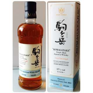駒之岳 Mars Komagatake Sherry & American Oak 2011 3yrs CS Single Malt Whisky