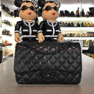 Chanel Classic Jumbo SO BLACK