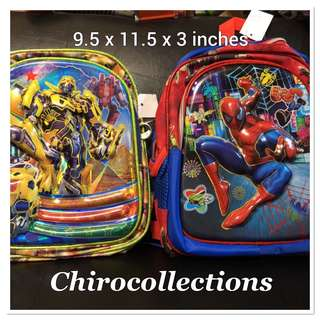 Spiderman and Transformers Backpack