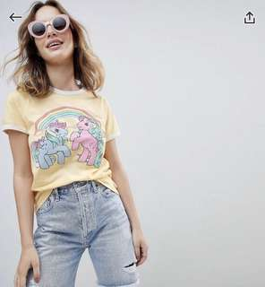 ASOS Petite My Little Pony T-shirt in Pastel Yellow