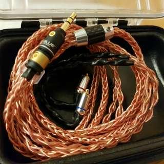 (有貨)Shure westone fender campfire 專用線 7N冷涷單晶銅合金線8絞 新款mini 24k 鍍金3.5頭mmcx插針 耳機升級線 mmcx shure westone fender ue900s