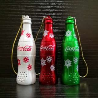 Coca-Cola Christmas bell collections set of 3