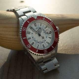 Breytenbach 鋼帶款式腕錶 (紅色)