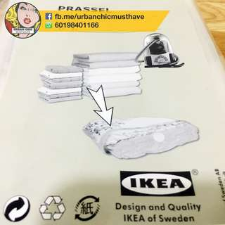IKEA SPACE SAVING VACCUM SEAL BAG MEDIUM BIG CLEAR 2PCS EACH PACKET