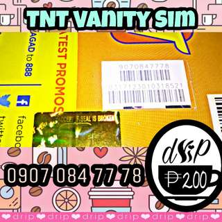 TNT Vanity Special Number Sim - consecutive  77 78 - triple 7