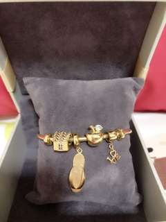 Gold Bangle 916 With Charms