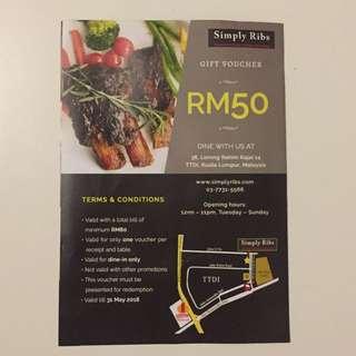 Simply Ribs RM 50 Voucher