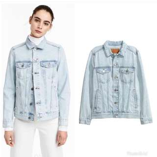 H&M Semi Ripped Denim Jacket