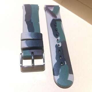 SILICON WATCH STRAP 矽膠錶帶迷彩圖案