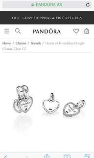 Pandora Hearts of Friendship Charms