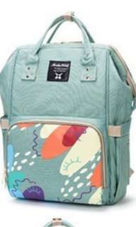 ❤ Baby Diaper Bag / Mommy Nursing Bag ( Green Printed)