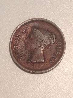 Ss 1/4 cent 1845