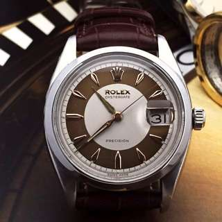 SOLD-          34mm Rolex Tuxedo Dial Oysterdate