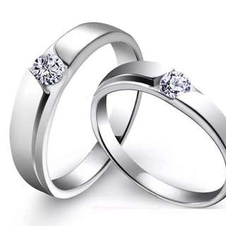 Fashion Lovers Rings Silver Adjustable Couple Rings Jewellery