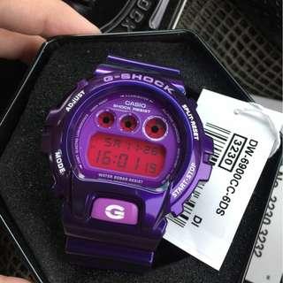 Jam Tangan Casio G-Shock DW 6900 Purple Ori Bm