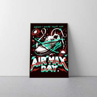NIKE AIR MAX DAY WOODEN POSTER FRAME