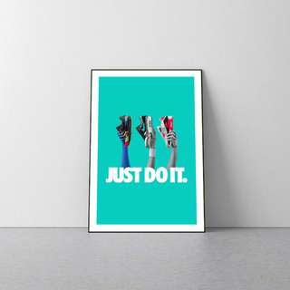 NIKE JUST DO IT WOODEN POSTER FRAME