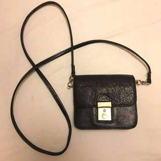 Small Black leather hand bag