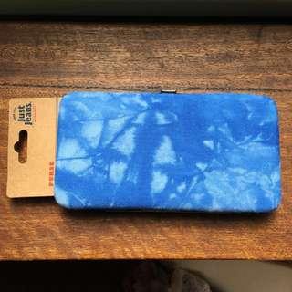 Just Jeans blue denim clutch purse
