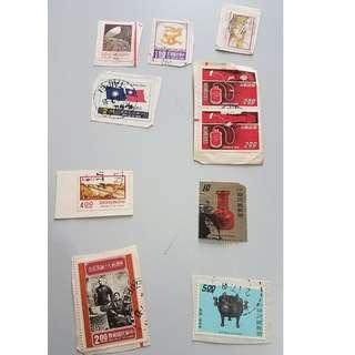 不同國家 郵票 馬來西亞 日本 中國 台灣