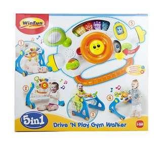 Bnib winfun 5-in-1 driver play gym walker