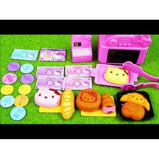 🌟Original Sanrio Hello Kitty Bakery and Cash Register Playset from Japan (pretend play, toreba, cooking, baking, supermarket)