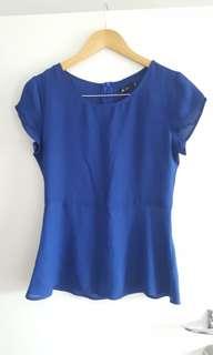 Blue Top Size 10