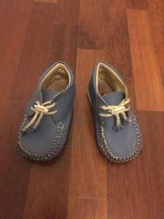 Baby Shoes - Soft leather mocassins. Length 13cm. #Bajet20