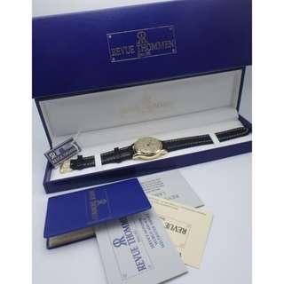Revue Thommen 瑞士梳曼 響鬥曰曆 上練 18k金 限量版 男裝皮帶錶