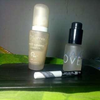 Serum make over, foundation flormar, pencil alis colour box oriflame