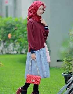 DISKON 80% OFF 3D flower organza hijab
