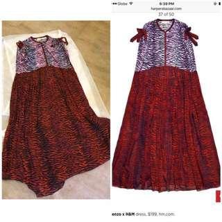 kenzo x h&m maxi dress