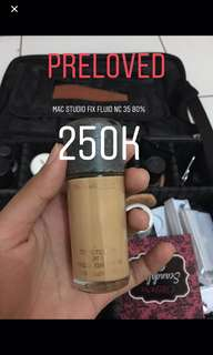 Mac studio fix fluid foundation nc35