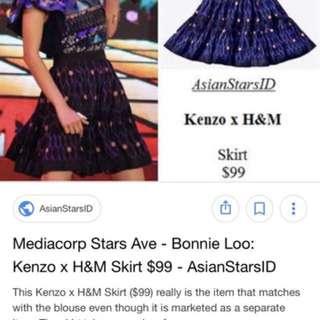 kenzo x h&m skirt