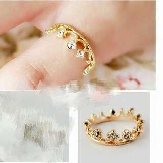 皇冠鑽石戒指