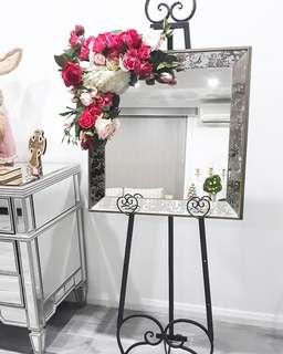 Mirror & Floral Arrangement