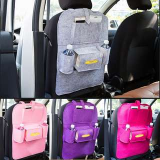 😆FREE SHIPPING* under 500g😆 ( Grey) Waterproof Thick Auto Car Seat Back Organizer Travel Cup Phone Storage Bag