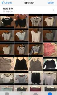 LOTS OF TOPS FOR SALE!