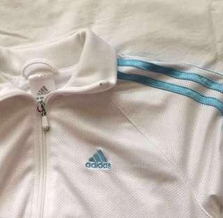 Adidas White Track Jacket 🛍✨