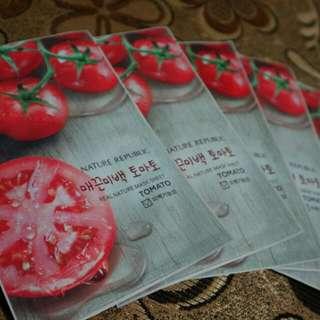 masker topeng tomat