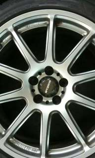 """Selling 17"""" prodrive rim with ps4 tyre"""