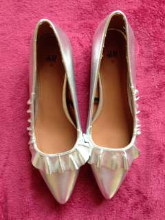 H&M silver flats