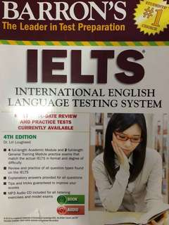 Barrons's IELTS (International English Language Testing System) textbook