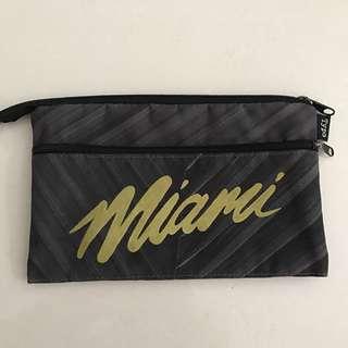 Typo Miami two zip dark grey marble pencil case