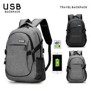 SALE FREE POS Ready Stock Charging Backpack Design Travel Bag